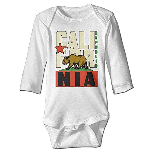 California Republic Vintage State Flag Kids Boys Girls Baby Bodysuit Baby Onesies Outfits