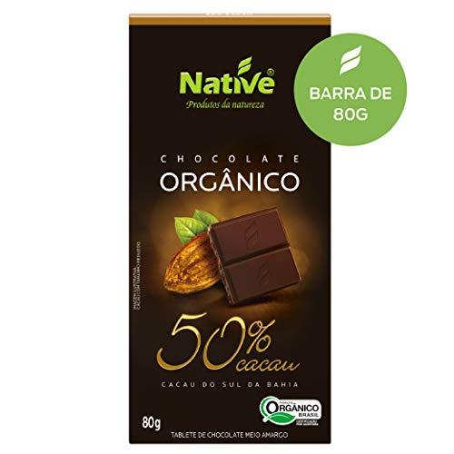 Chocolate 50% Cacau Orgânico Native 80g