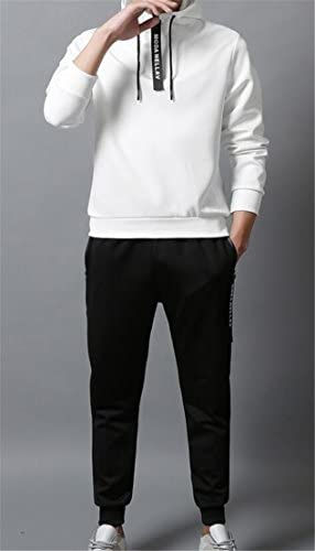 Spirio Mens 2 Pieces Drawstring Hoodie Sweatshirt and Pants Sweatsuit Set