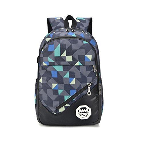 Vbiger Bolso de escuela 3-en-1 bolso de hombro casual bolso de moda Color 1