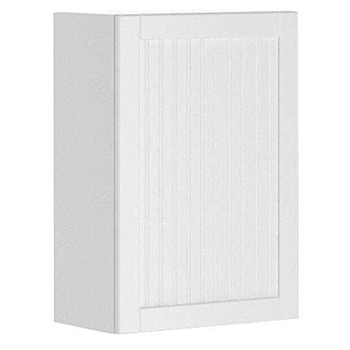 21x30x12.5 in. Odessa Wall Cabinet in White Melamine and Door in White