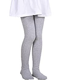 431acddbe Girls  Thick Cotton Stockings Socks Stretch Cable Knit Footed Tights