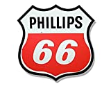 Vintage PHILLIPS 66 Gas Station Logo Shaped Sticker (motorcycle car gasoline)- Sticker Graphic Decal