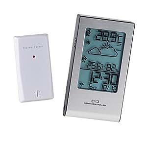 4en 1estación meteorológica–Barómetro, higrómetro, termómetro y radio reloj