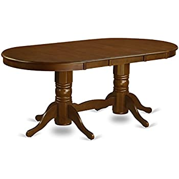 This Item East West Furniture VAT ESP TP Oval Double Pedestal Dining Room  Table With 17 Inch Butterfly Leaf