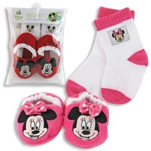 Amazon Com Mickey Or Minnie Mouse Disney Baby Booties Socks