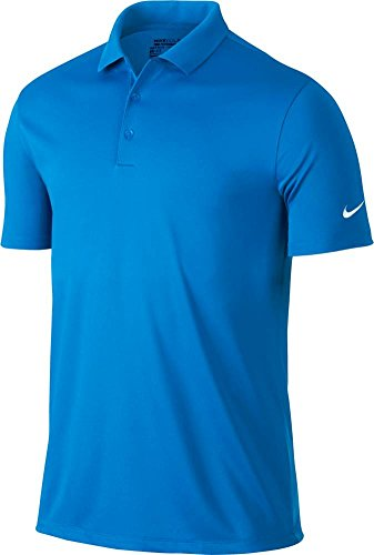 Nike Mens dry Victory Polo, Photo Blue/White, Large