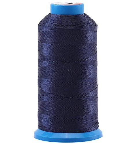 Selric [1500 Yards/Coated/No Unravel Guarantee/21 Colors Available] Heavy Duty Bonded Nylon Threads #69 T70 Size 210D/3 for Upholstery, Leather, Vinyl, and Other Heavy Fabric (Navy Blue) ()