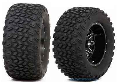 eels and Slasher AT Trail 23x10.5-12 All Terrain Golf Cart Tires Combo - Set of 4 ()