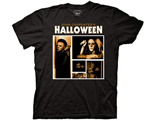 Ripple Junction Halloween Adult Unisex Screen Blocks Light Weight 100% Cotton Crew T-Shirt LG Black