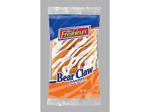 Mrs.Freshleys Bear Claw Danish, 4 Ounce -- 36 per case. ()