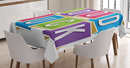 Going Away Party Decorations Tablecloth by Ambesonne, Colorf