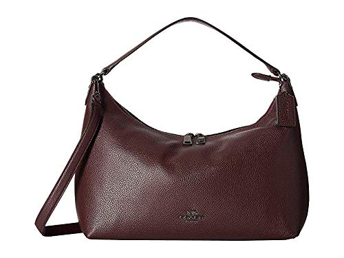 Convertible Hobo - COACH Women's Pebbled Leather East/West Celeste Convertible Hobo Warm Oxblood One Size