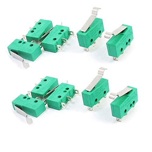 tatoko Micro Switch Hinge Lever Switch KW4-3Z-3 for Mill CNC AC 125V 5A 10pcs ()