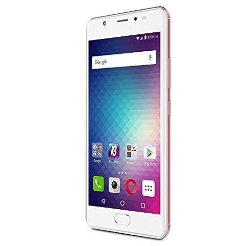 BLU LIFE ONE X2 - 4G LTE Unlocked Smartphone -16GB+2GB RAM -Rose Gold (Cover De Lg 70)