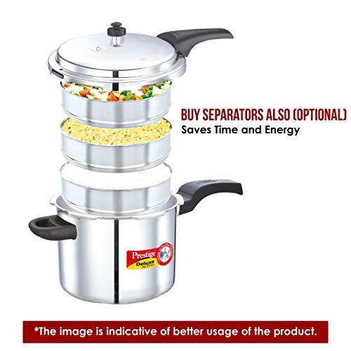 01f06bb6c09 Prestige PRDA10 Deluxe Alpha Induction Base Pressure Cooker 10-Liter  Stainless Steel by Prestige (
