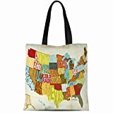 Ahawoso Canvas Tote Bag 14x16 Inches Manual Woodworkers Across The Country Durable Reusable
