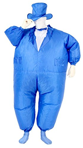 Tuxedo Tux Inflatable Teen Chub Suit Costume (Blue) (Inflatable Suit)