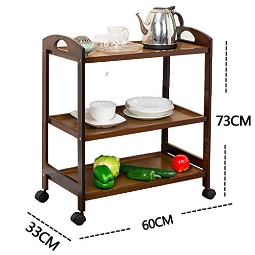 - Shelf LYG Kitchen Wheeled Rack, Tea Rack Kitchen Movable Wheeled cart Dining car Floor Multi-Layer Storage Rack (Color : A, Size : 603373cm)