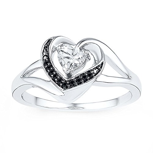 Tcw black diamond ring size 7
