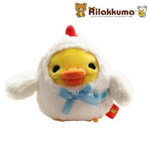 San-X Rilakkuma Tamago Series Plush Doll Cell Phone Strap (Kiiroitori)