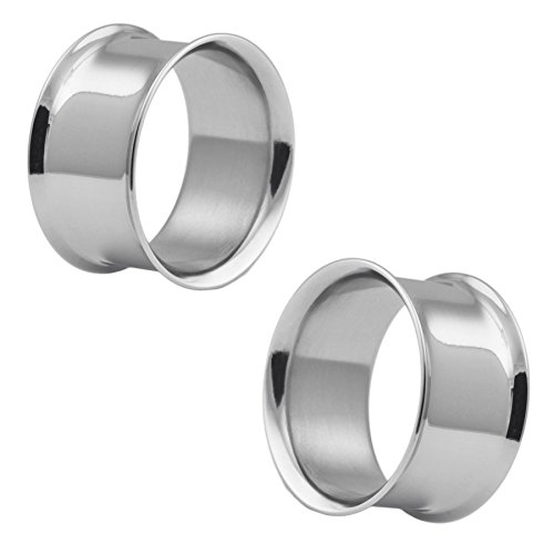 Pair of Stainless Steel Double Flared Eyelets: 1-1/8