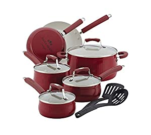 Paula Deen Savannah Collection Aluminum Nonstick 12-Piece Nonstick Cookware Set