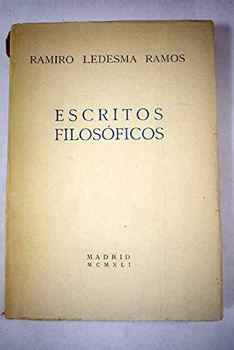 ESCRITOS FILOSÓFICOS: Amazon.es: Ledesma Ramos, Ramiro: Libros