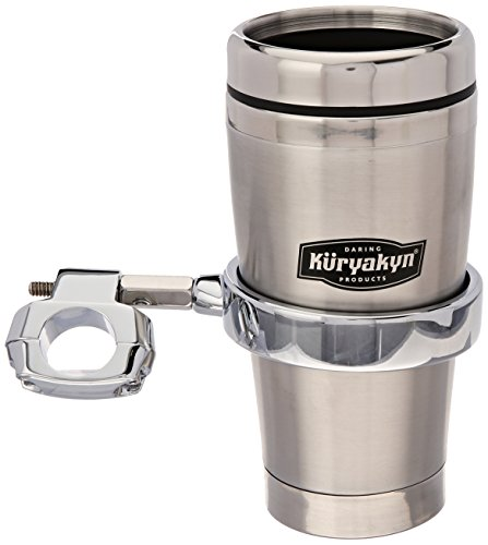 (Kuryakyn 1464 Universal Drink Holder with Mug for 1