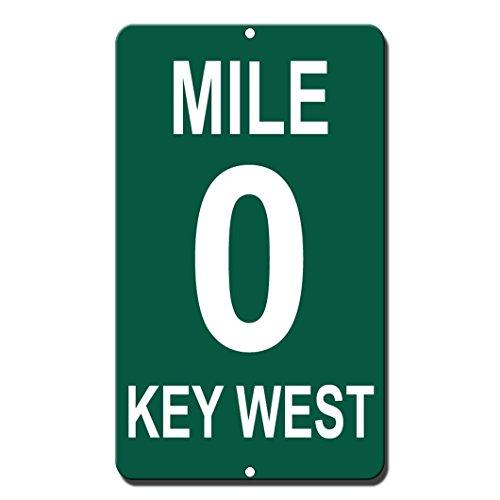 - Lplpol Mile 0 Key West Novelty Funny Sign 12