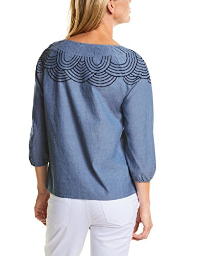 Donna 11426 Cecil Denim faded Blue Blau Blusa PwFxTF78