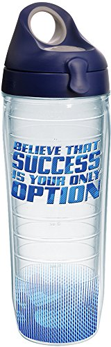Tervis 1204576 Success Is Your Only Option Tumbler With Wrap And Navy With Gray Lid 24Oz Water Bottle  Clear