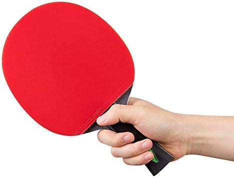 ピンポンパドル 六つ星の卓球ラケット水平ゲーム大会水平両面接着防止シングルショット 家庭用または屋外用のTTパドル (Color : Multi-colored, Size : 15x25.3cm)