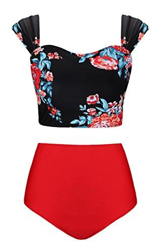 Cute Bikinis for Teens Two Piece Plus Size Swimwear,Floral,M ()