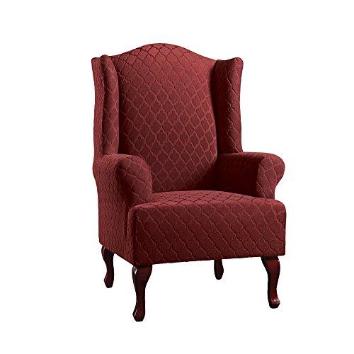 Grand Chair Slipcover - Surefit SureFit Stretch Grand Marrakesh Wing Chair Slipcover-Paprika (SF46702)