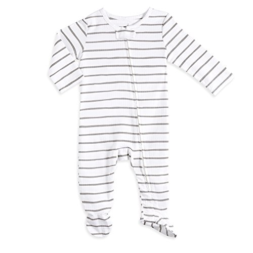 aden by aden + anais Baby Long Sleeve One-Piece, Stripey, 3-6M