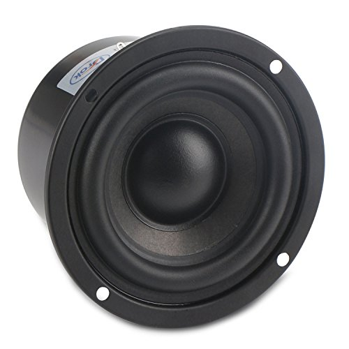DROK 25W 3 Inch Round Shape Woofer Speaker Stereo Loudspeaker 4 Ohm Computer Compact Speakers, DIY Home Car Audio HiFi Speakers Bass 90Hz-5KHz