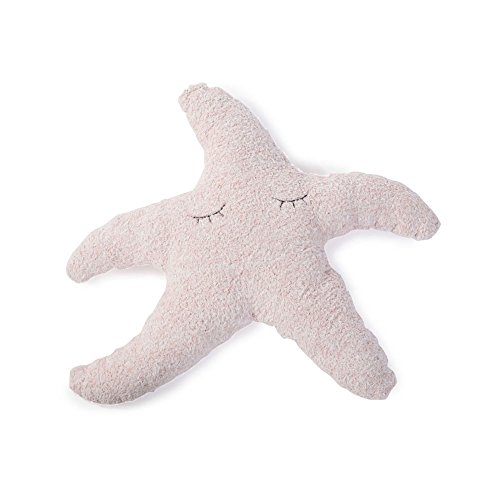 BAREFOOT DREAMS COZYCHIC DUSTY ROSE-WHITE STARFISH TOOTH FAIRY PILLOW Barefoot Dreams Mini Blanket