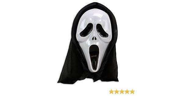 Virtuemart Mascara de Scream Disfraces Carnaval Halloween Careta Miedo Cine Terror: Amazon.es: Juguetes y juegos