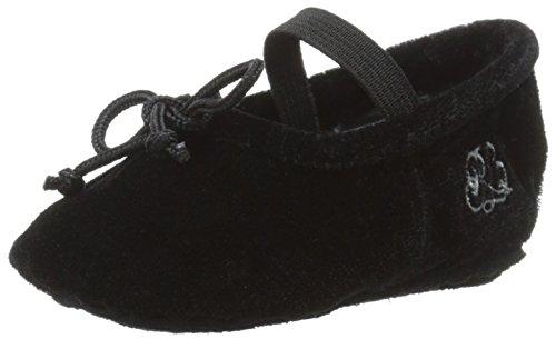 Ralph Lauren Layette MJ Ballet Flat (Infant/Toddler), Black Velvet, 2 M US - Shipping Lauren Ralph