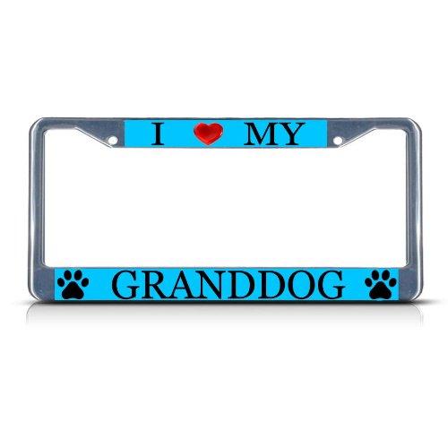 Amazoncom I Love My Granddog Dog Heavy Duty Metal License Plate