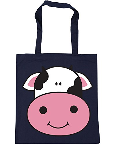 Cow Shopping litres Tote Gym HippoWarehouse 42cm 10 Beach x38cm Navy French Bag dw74ExtRqE