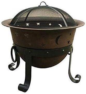 Amazon Com Heavy Duty Cast Iron Outdoor Patio Fire Pit Cauldron