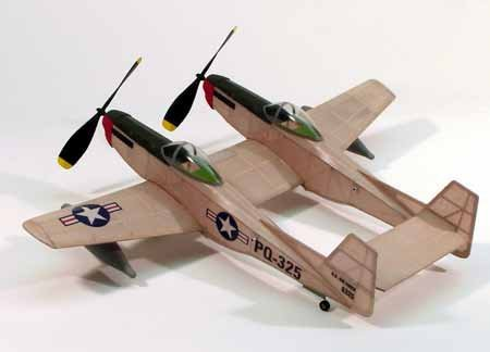 Dumas F-82 Twin Mustang,17.5Rubber Power DUM206 by for sale  Delivered anywhere in USA