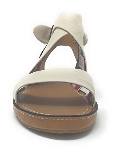 Hush Puppies Women's Regards Flat Leather Sandals Off White Qp0vNI28PY
