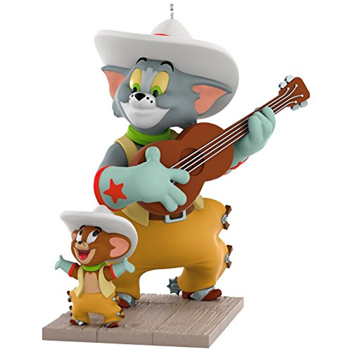 Hallmark Keepsake 2017 Tom and Jerry Texas Tom Christmas Ornament (Funny Christmas Animated Card)