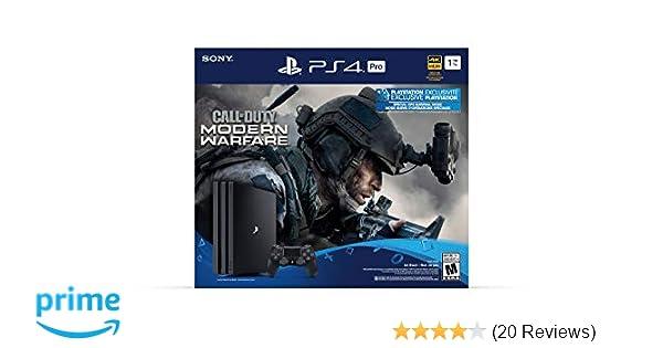 Amazon Com Playstation 4 Pro 1tb Console Call Of Duty
