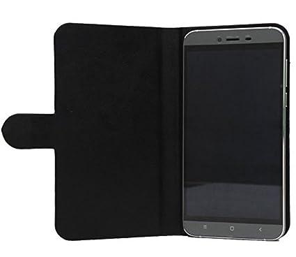 Prevoa® 丨 Flip PU Case Protictive Funda para Energy Sistem Phone MAX 4G - Smartphone 5,0 Pulgadas - Negro -
