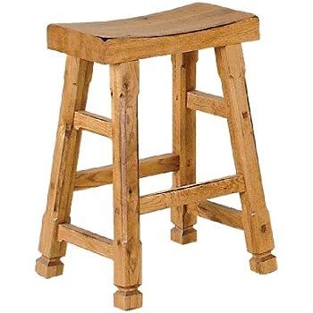 Amazon Com Sunny Designs 1720ro Saddle Seat Barstool