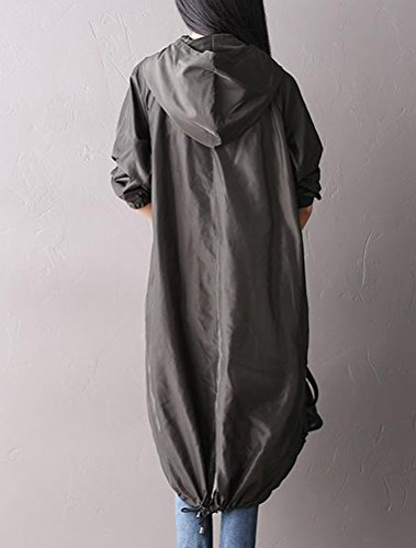 MatchLife - Abrigo - Asimétrico - para mujer Style2-Grün